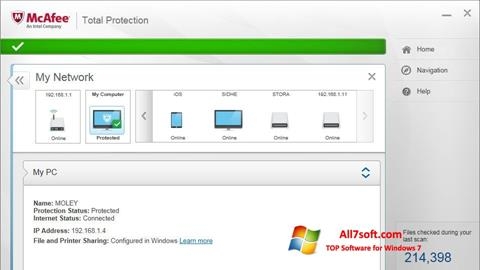 Screenshot McAfee Total Protection for Windows 7