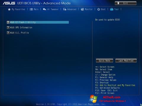 Screenshot ASUS Update for Windows 7