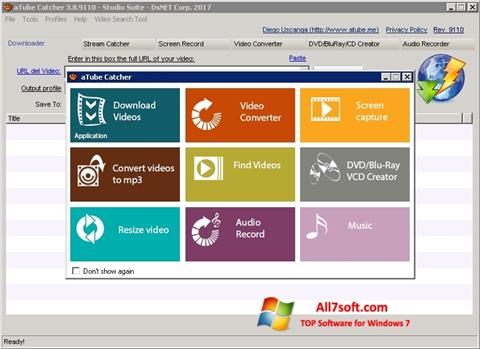 Screenshot aTube Catcher for Windows 7