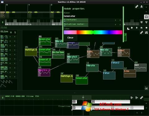 Screenshot SunVox for Windows 7