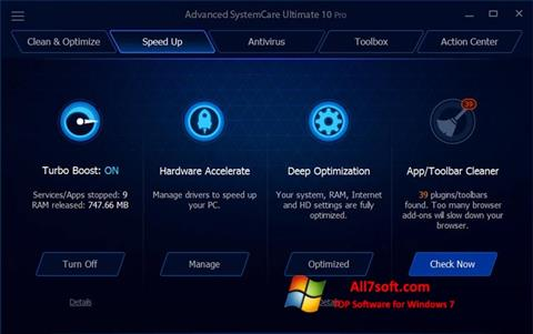 Screenshot Advanced SystemCare Ultimate for Windows 7