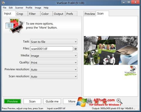Screenshot VueScan for Windows 7