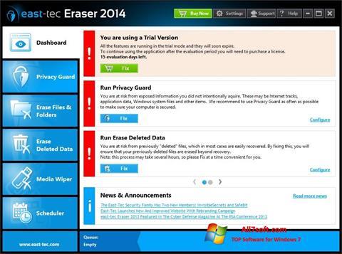 Screenshot East Tec Eraser for Windows 7