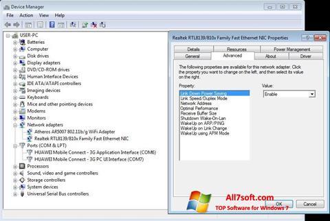 Screenshot REALTEK RTL8139 for Windows 7