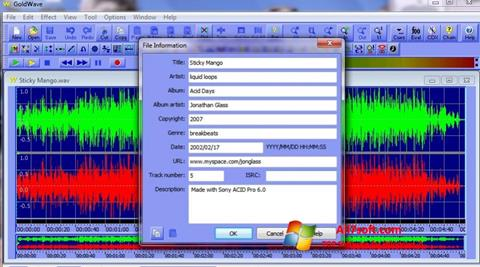 Screenshot GoldWave for Windows 7