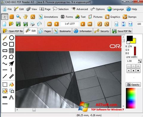 Screenshot PDF Reader for Windows 7