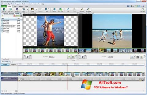 Screenshot VideoPad Video Editor for Windows 7