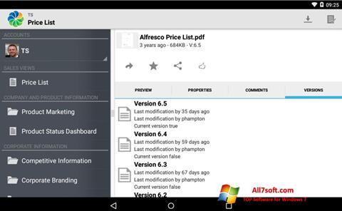 Screenshot Alfresco for Windows 7
