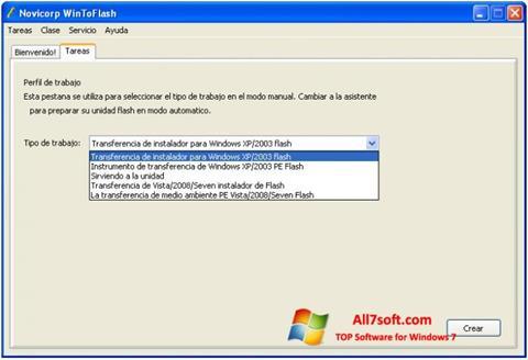 Screenshot WinToFlash for Windows 7