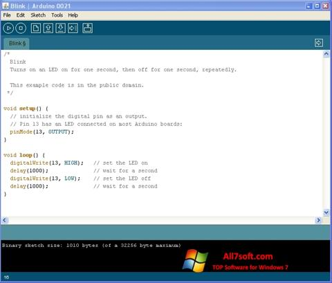 Screenshot Arduino for Windows 7