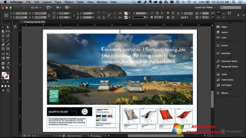 Screenshot Adobe InDesign for Windows 7