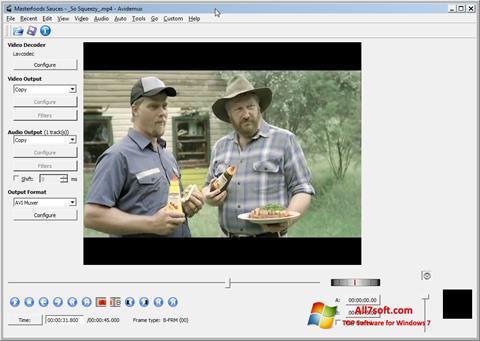 Screenshot Avidemux for Windows 7