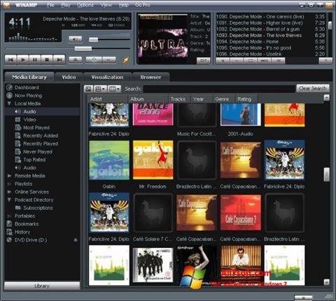 Screenshot Winamp for Windows 7