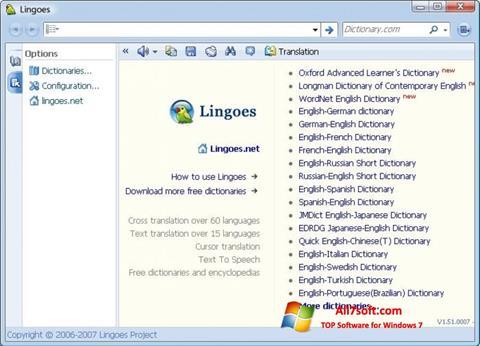 Screenshot Lingoes for Windows 7