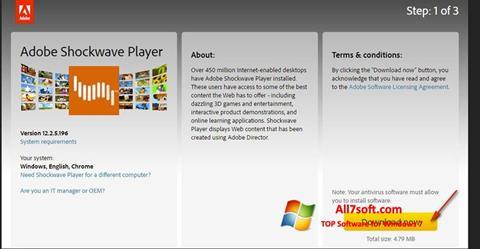 Screenshot Adobe Shockwave Player for Windows 7