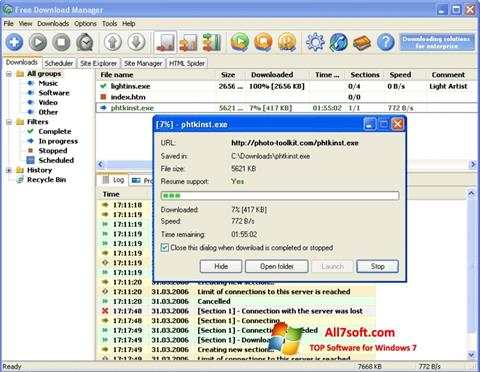 Screenshot Download Master for Windows 7