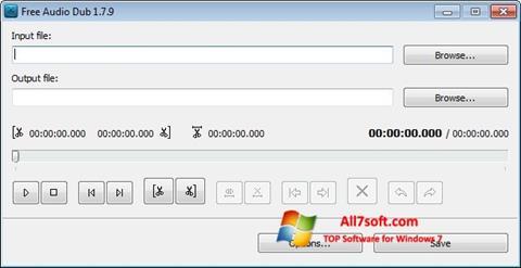 Screenshot Free Audio Dub for Windows 7