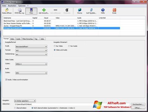 Screenshot XMedia Recode for Windows 7