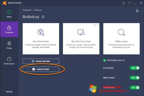 Screenshot Avast for Windows 7