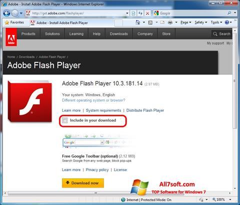 adobe flash player free download windows 7 ultimate 32 bit