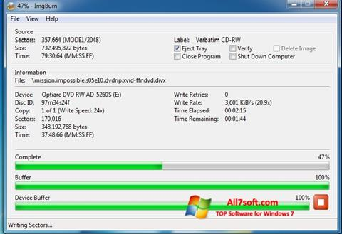 Screenshot ImgBurn for Windows 7