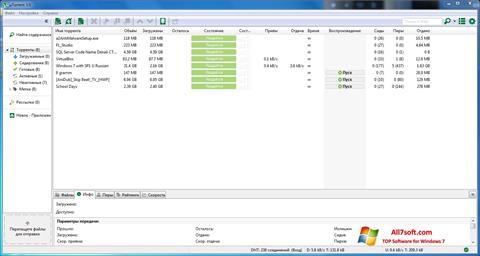 Screenshot uTorrent for Windows 7