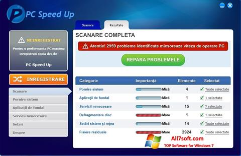Screenshot PC Speed Up for Windows 7