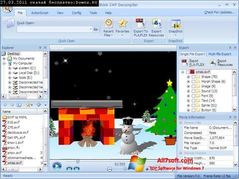 Screenshot Sothink SWF Decompiler for Windows 7