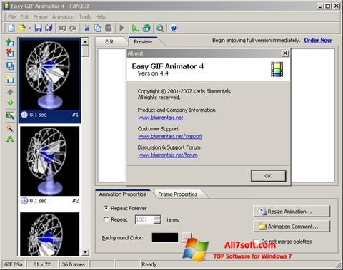 Screenshot Easy GIF Animator for Windows 7