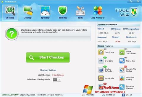 Screenshot Toolwiz Care for Windows 7