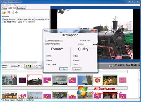 Screenshot Bolide Slideshow Creator for Windows 7