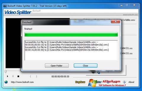 Screenshot Boilsoft Video Splitter for Windows 7