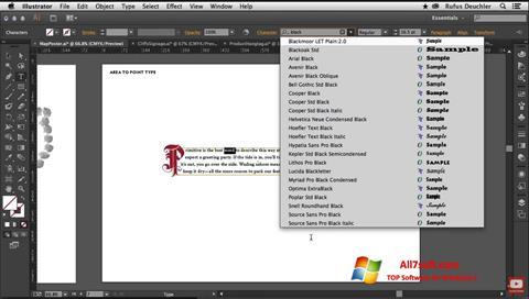 Screenshot Adobe Illustrator for Windows 7