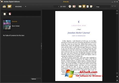 Screenshot Adobe Digital Editions for Windows 7
