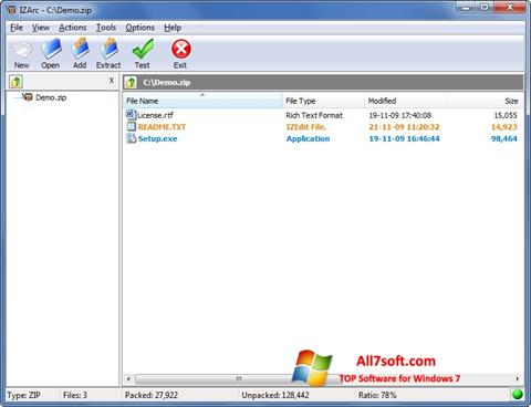 Screenshot IZArc for Windows 7