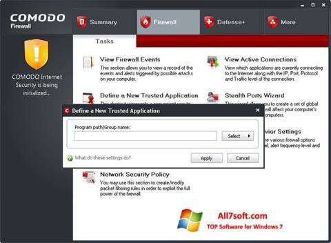 Screenshot Comodo Firewall for Windows 7