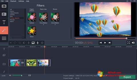 Screenshot Movavi Video Suite for Windows 7