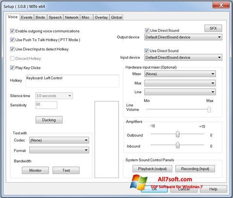 Screenshot Ventrilo for Windows 7