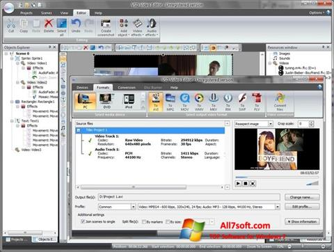 Screenshot Free Video Editor for Windows 7
