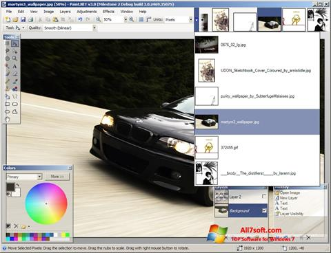 Screenshot Paint.NET for Windows 7