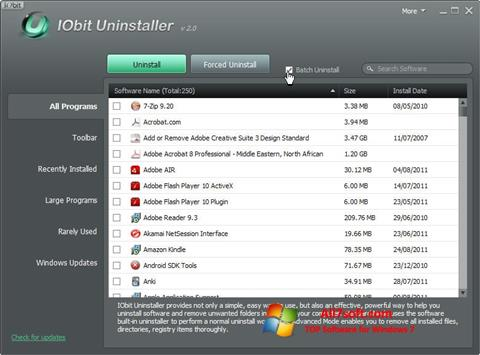 Screenshot IObit Uninstaller for Windows 7