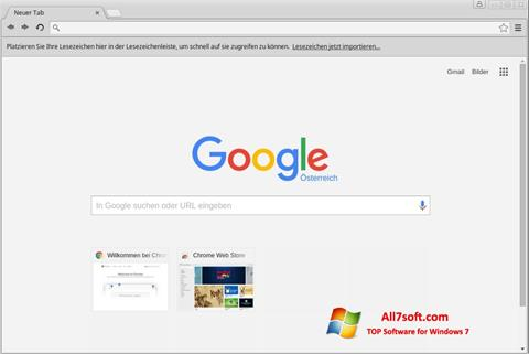 Screenshot Google Chrome for Windows 7