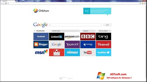 Screenshot Orbitum for Windows 7
