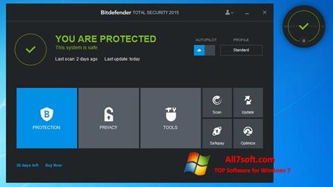 Screenshot Bitdefender for Windows 7