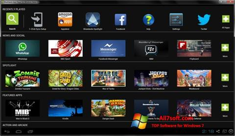 Screenshot BlueStacks for Windows 7