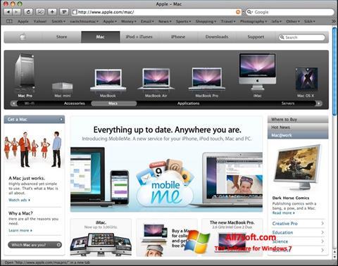 Screenshot Safari for Windows 7