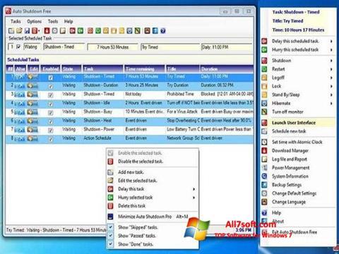 Screenshot Auto ShutDown for Windows 7