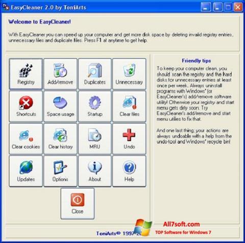 Screenshot EasyCleaner for Windows 7
