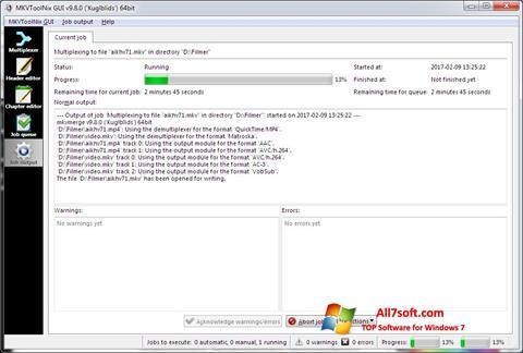 Screenshot MKVToolnix for Windows 7