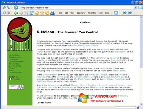 Screenshot K-Meleon for Windows 7
